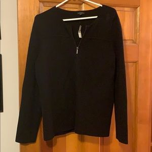 NWT Talbots Black Heavy Knit Jacket/Blazer XL